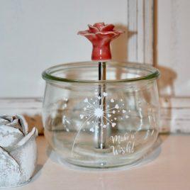 Weckglas-Behälter Pusteblume