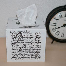 Kosmetikbox hoch, antike Schrift Crème